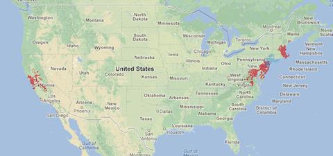 Xfinity WiFi map Nov 2012