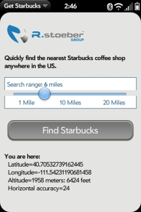 Get Starbucks screen capture